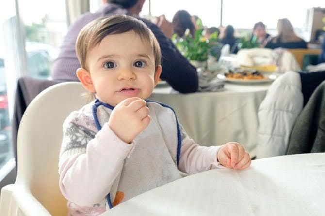 Toddler at restaurant
